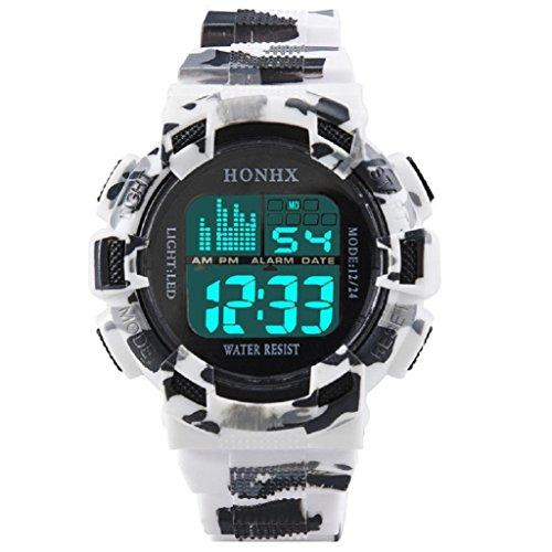 Digital Date Sport Watch, Hosamtel LED Analog Quartz Fashion Mens Alarm Wrist Watch