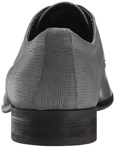 Calvin Klein Mens Valient Pelle Martellata Oxford Grigio Scuro