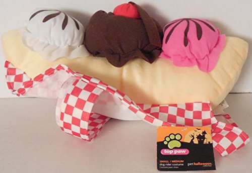 Top Paw small/medium Banana Split Dog Rider Costume -