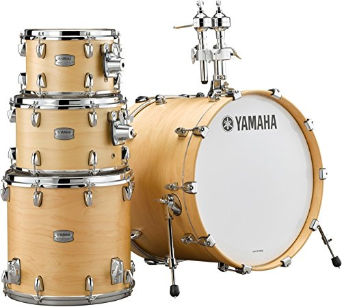 - Yamaha Tour Custom Maple 4pc Fusion Shell Pack, Butterscotch Satin