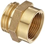 Moon 357-1061021 Brass Fire Hose Adapter, Nipple, 1'' NPT Female x 1'' NH Male