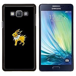 /Skull Market/ - Jolteon P0Kemon For Samsung Galaxy A7 - Mano cubierta de la caja pintada de encargo de lujo -
