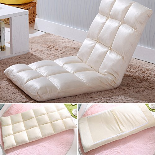 Selani Adjustable Floor Chair Folding Couch Sofa Six-position Multiangle Lazy Man Chair Soft ...