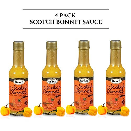 - Grace Scotch Bonnet Pepper Hot Sauce - Great As A Condiment As Well As Flavoring For Dishes & Soup, and more! - 4.08 oz (4 units)