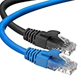 CAT 6 Ethernet Cable (3 Feet) LAN, UTP (0.9 Meters) CAT6, RJ45, Network, Patch, Internet Cable - 2 Pack (3 ft)