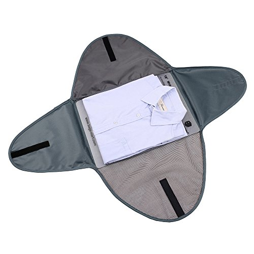 BAGSMART Luggage Travel Gear Garment Folder Anti-wrinkle Shirt Travel Packing Cube, Grey