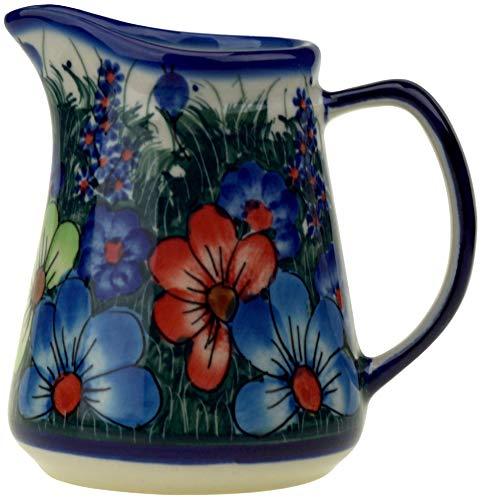 Ceramika Boleslawiecka Kalich Polish Hand Painted Creamer (Daisy Garden) (Daisy Creamer)