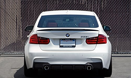 Bmw F30 M Performance Style Carbon Fiber Rear Spoiler Import It All