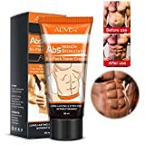 ALIVER Abdominal Muscle Cream, Fat Burning Muscle Belly Anti Cellulite Creams Tighten Muscles