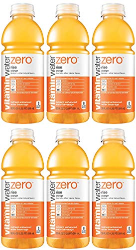 Vitamin Water Zero, Orange - Rise, 20oz Bottle (Pack of 6, Total of 120 Oz)
