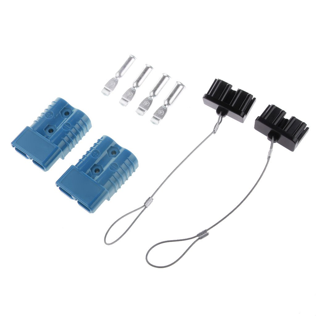 175A 600V Battery Quick Disconnect Wire Harness Plug Jumper Cables Cover Kit Electrical Positive Negative Winch Power Trailer Auto Car Accessories Gray