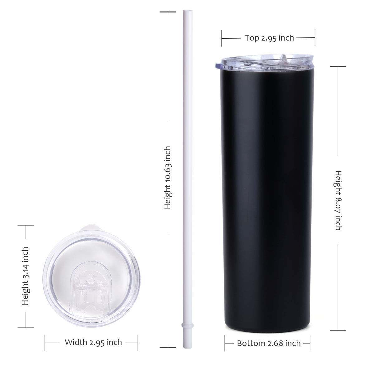 Stellar 20 oz. Skinny Steel 12 Pack Double Wall Stainless Tumbler (White) by Stellar (Image #5)