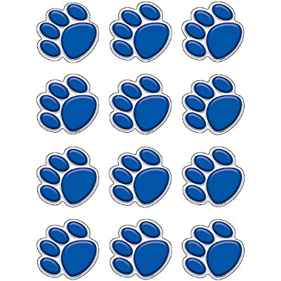 Teacher Created Resources Mini Accents, Blue Paw Prints (5117): Office Products