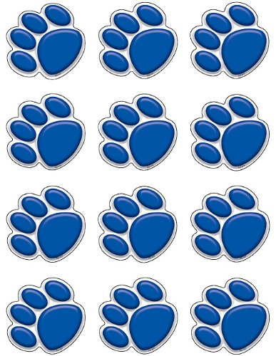 Teacher Created Resources Mini Accents, Blue Paw Prints (5117)