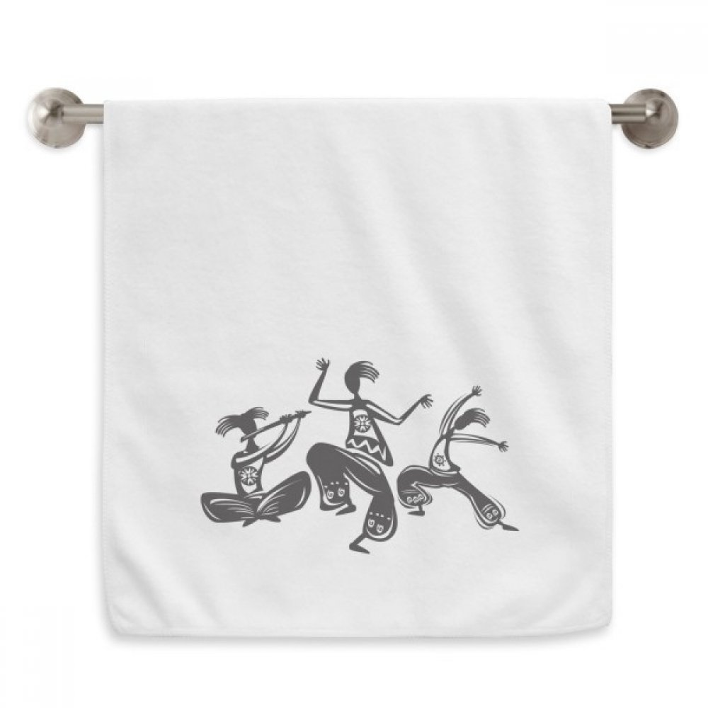 DIYthinker Dance People Mexico Totems Mexican Circlet White Towels Soft Towel Washcloth 13x29 Inch