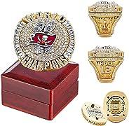 2020 Tampa Bay Championship Fans Ring With Box, Tom 12 Brady Goat Lightning Championship Ring, Super Bowl Ring