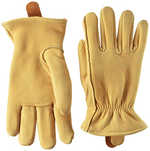 Elkskin Leather - Midwest Gloves & Gear Midwest Quality Gloves American Made Genuine Elkskin Leather Work Gloves, Tan, X-Large