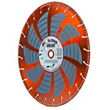 Heavy Duty 14-Inch by 1-Inch Metal Cutting Rescue Diamond Blade with Diamond Side Coating for Power Hand-Held Power Saws & Chop Saws (14