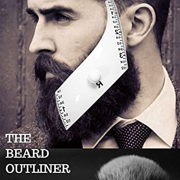Beard Outliner Kit / 2 Beard Styles/ROUND AND SQUARE set All-In-One Tool |  The Beard Care &