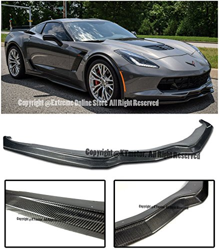 - Extreme Online Store Z06's Z07 Performance Package Stage 2 Style Carbon Fiber Front Bumper Lower Lip Splitter For 14-Up Chevrolet Corvette C7 Chevy
