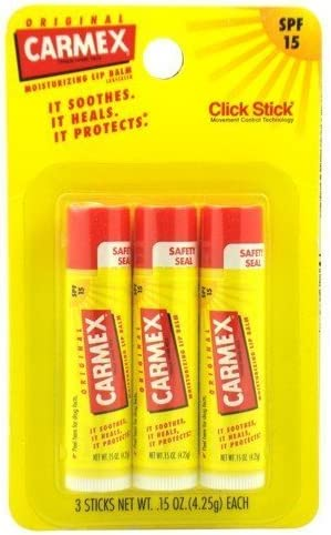 Pack 2) Carmex Lip Balm, Moisturizing, Original, 3 Ct. by Carmex: Amazon.es: Salud y cuidado personal