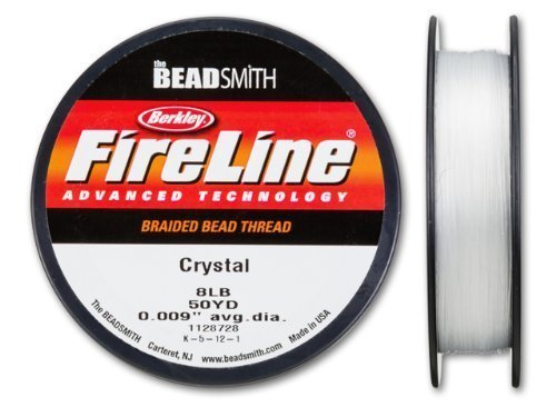 Beadsmith Fireline - Braided Bead Thread - Crystal - 50 Yards (8lb Test) 4336807348