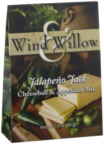 [Wind & Willow Jalapeno Jack Cheeseball & Appetizer Mix, 1.2-Ounce Boxes (Pack of 3) by Wind & Willow] (Jalapeno Cheeseball)