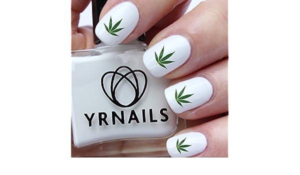 Pegatinas de hoja de marihuana de color verde para decorar uñas de la marca YRNails.: Amazon.es: Belleza
