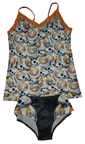Star Wars Lingerie (Star Wars The Force Awakens BB-8 Cami Panty Set - Large)