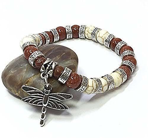 Amazon.com: Dragonfly Bracelet Gift Ideas Beaded Stretch ...