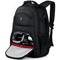 Victoriatourist DSLR Camera Backpack with Laptop Bag Waterproof Rain Cover Fits Most Laptops, 15.6, Black