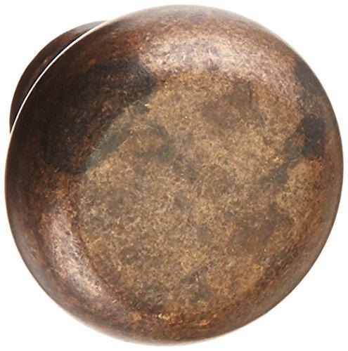Vintage Mushroom Knob Finish: Vintage Brass, Size: 1.23