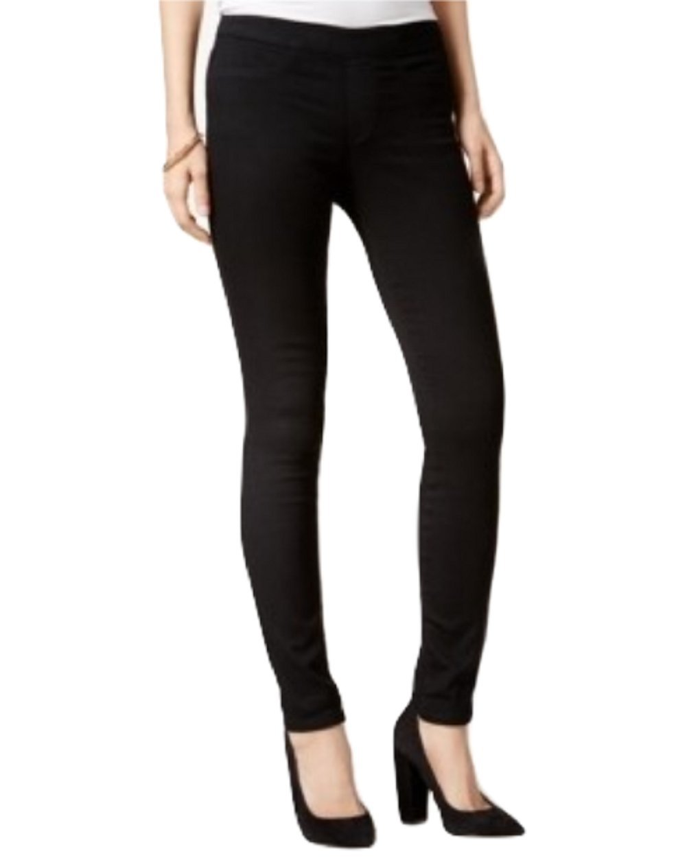 Maison Jules Womens Pull On Stretch Jeggings Black XS
