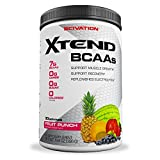 Scivation Xtend BCAA Powder, Branched Chain Amino Acids, BCAAs, Fruit Punch, 30 Servings