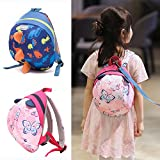 Sunveno Cute Baby Backpack Safety Harness Anti-lost Backpack Toddler Anti lost Strap Walker Bag (Blue)