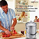 RED-FACTOR-Premium-Compostiera-da-Cucina-Inodore-in-Acciaio-Inox-6-Filtri-di-Ricambio-in-Carbone-Attivo-Inclusi-5-Litri-Inox-Satinato