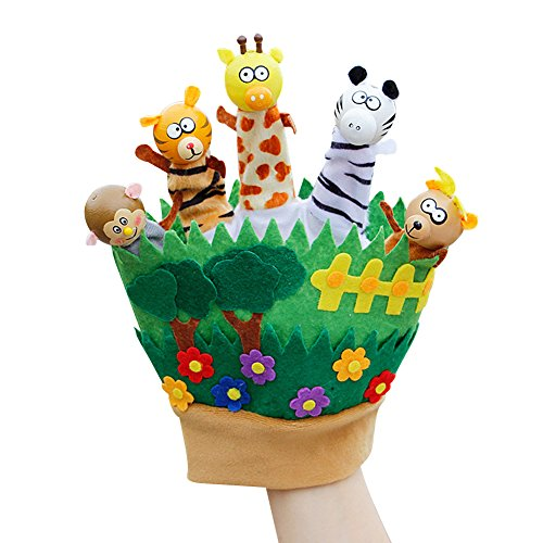 Chinatera Puppet Doll Hand Glove Plush Story Telling Educational Toys Story Tellingfor Kids Preschool Kindergarten Children (Animals Zoo)