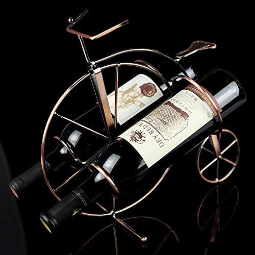 LZYPQY Estatua Decoraci Escultura Creativo Retro Iron Art Bicycle Model Wine Rack Decor Metal Bike Bottle Holder Baware Utility Craftworks Ornament Accessories, Cinn