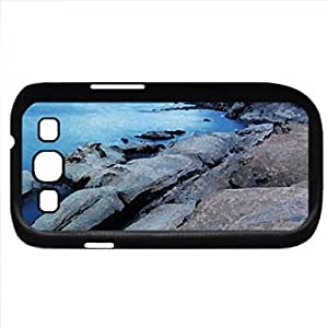 Shoreline (Oceans Series) Watercolor style - Case Cover For Samsung Galaxy S3 i9300 (Black)