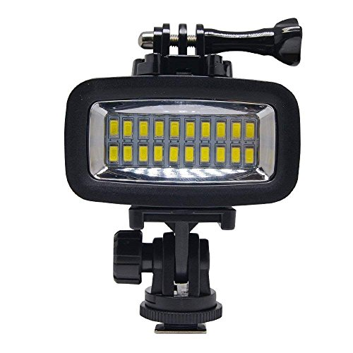 Sea frogs 700LM Diving Video Fill-in Light LED Lighting Lamp Waterproof 40M 1900mAh Built-in Rechargeable Battery with Diffuser for GoPro SJCAM Xiaomi Yi Sports Action Camera by Sea frogs