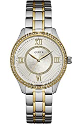 GUESS W0825L2,Ladies Dress,Stainless Steel,Two-Tone,Crystal Accented Bezel,30m WR