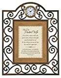Faithworks Heartfelt Pastor's Wife Metal Framed Tabletop Clock, 7 x 9''