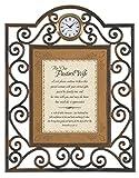 Faithworks Heartfelt Pastor's Wife Metal Framed Tabletop Clock, 7 x 9''