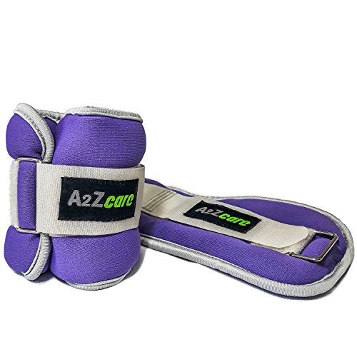 A2ZCARE Ankle/Wrist Weights for Men and Women (2lb, 4lb, 6lb, 8lb) - A Comfortable Leg Weights Set for Gymnastics, Exercise, Fitness, (A2 Gymnastics)