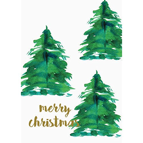 Graphique Tree and Gold Dots Boxed Cards - 15 Glitter Embellished Holiday Cards with