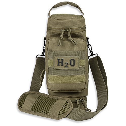 Orca Tactical Military MOLLE H2O Water Bottle Pouch Hydration Carrier (OD ()