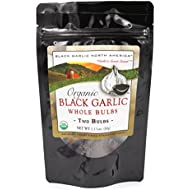 """Black Garlic """"Organic American"""" Whole Bulbs (2 per package) 60 grams...Aged and Fermented 120 Days"""