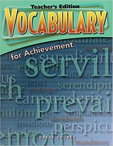 Amazon vocabulary for achievement 5th course teachers vocabulary for achievement 5th course teachers edition 4th edition fandeluxe Choice Image