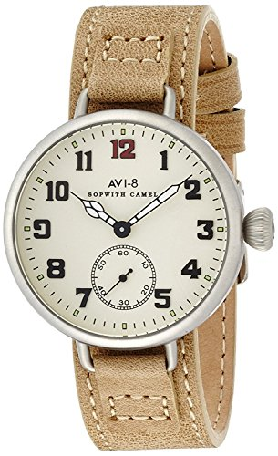 AVI-8 watch Sopwith Camel white dial small seconds AV-4034-02 Men's