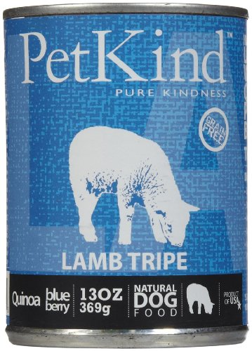 PetKind Grain-Free All Natural Dog Food, 13 oz cans (Pack of 12), Lamb Tripe